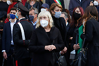 Gigi Proietti's partner Sagitta Alter during the funeral of the Italian actor Gigi Proietti. The actor was taken to the Globe Theatre for a short ceremony before the one in the church of Artist in Piazza del popolo.<br /> Rome (Italy), November 5th 2020<br /> Photo Samantha Zucchi Insidefoto