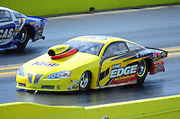Sept. 24, 2011; Ennis, TX, USA: NHRA pro stock driver Rodger Brogdon during qualifying for the Fall Nationals at the Texas Motorplex. Mandatory Credit: Mark J. Rebilas-
