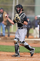 February 27, 2010:  Catcher Dan Sheppard of the Iowa Hawkeyes during the Big East/Big 10 Challenge at Raymond Naimoli Complex in St. Petersburg, FL.  Photo By Mike Janes/Four Seam Images