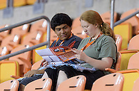 Houston, TX - Sunday Sept. 25, 2016: Fans prior to a regular season National Women's Soccer League (NWSL) match between the Houston Dash and the Seattle Reign FC at BBVA Compass Stadium.