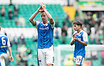 Celtic v St Johnstone …26.08.17… Celtic Park… SPFL<br />Steven MacLean aplauds the travelling fans at full time<br />Picture by Graeme Hart.<br />Copyright Perthshire Picture Agency<br />Tel: 01738 623350  Mobile: 07990 594431