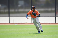 Houston Astros Bryan De La Cruz (26) during a minor league Spring Training game against the Washington Nationals on March 28, 2017 at the FITTEAM Ballpark of the Palm Beaches in West Palm Beach, Florida.  (Mike Janes/Four Seam Images)