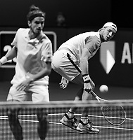 Rotterdam, The Netherlands, 5 march  2021, ABNAMRO World Tennis Tournament, Ahoy,  Second round doubles: Pierre-Hugues Herbert (FRA) / Jan-Lennard Struff (GER). Photo: www.tennisimages.com/henkkoster