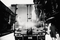 Reflection on back of truck<br />