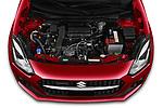 Car Stock 2021 Suzuki Swift GL-Plus-Hybrid 5 Door Hatchback Engine  high angle detail view