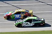#18: Kyle Busch, Joe Gibbs Racing, Toyota Camry M&M's, #3: Austin Dillon, Richard Childress Racing, Chevrolet Camaro American Ethanol e15