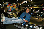 John Schneider - Loving - Dukes of Hazzard poses with Delorean car from Back to the Future as he appears at Big Apple Comic Con for autographs and photos on October 16 (and 17 & 18), 2009 at Pier 94, New York City, New York. (Photo by Sue Coflin/Max Photos)