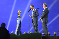Prince Harry and Bernard Lapasset, chairman of World Rugby, at the Opening Ceremony of the Rugby World Cup 2015 between England and Fiji - 18/09/2015 - Twickenham Stadium, London <br /> Mandatory Credit: Rob Munro/Stewart Communications