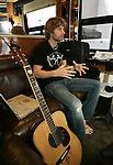 Country singer Dierks Bentley talks in his tour bus at the Reno Hilton, Dec. 9, 2005, in Reno, Nev. .Photo by Cathleen Allison