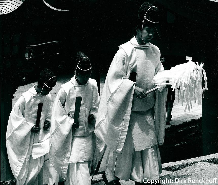 shintoistische Priester in Japan