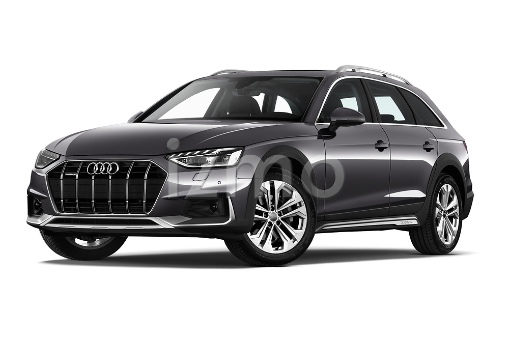 Stock pictures of low aggressive front three quarter view of a 2020 Audi A4-Allroad Base 5 Door Wagon