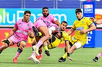 Pablo MATERA of Stade Francais, Waisea NAYACALEVU of Stade Francais and George MOALA of Clermont during the French Top 14 rugby match between Stade Francais and Clermont at Stade Jean Bouin on March 27, 2021 in Paris, France. (Photo by Baptiste Fernandez/Icon Sport) - Waisea NAYACALEVU - George MOALA - Pablo MATERA - Stade Jean Bouin - Paris (France)