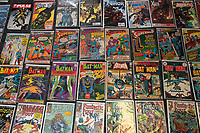 BNPS.co.uk (01202 558833)<br /> Pic: ZacharyCulpin/BNPS<br /> <br /> The collection includes Superman, Batman, X-men, Spiderman, Thor, Fantastic Four and Avengers comics<br /> <br /> A huge comic collection immaculately accumulated over 60 years by a late fanatic has been found by his family. <br /> <br /> The vast archive of over 8,000 comics was amassed by bachelor Peter James who kept them in pristine condition at his home.<br /> <br /> He was introduced to comics by his mother as a young boy as she thought it would encourage him to read.<br /> <br /> He started collecting at the age of 10 and kept the magazines neatly stacked in boxes.