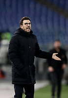 Calcio, Serie A: AS Roma - AC Milan, Roma, stadio Olimpico, 25 febbraio, 2018.<br /> Roma's coach Eusebio Di Francesco speaks to his players during the Italian Serie A football match between AS Roma and AC Milan at Rome's Olympic stadium, February 28, 2018.<br /> UPDATE IMAGES PRESS/Isabella Bonotto