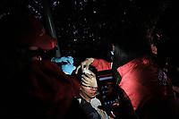 BOGOTA - COLOMBIA, 12-09-2020: Un manifestantes  es atendido por personal médico de Gestión Comunitaria. Cientos de manifestantes frente al CAI de San Diego durante el cuarto día de protestas causadas por el asesinato del abogado Javier Ordoñez, abogado de 46 años, a manos de efectivos de la Policía de Bogotá el pasado miércoles 09 de septiembre de 2020 en el barrio Villa Luz al noroccidente de Bogotá (Colombia). En lo que va corrido del 2020 la alcaldía de Bogotá ha recibido 137 denuncias  de abuso policial de las cuales la Policía acusa recibido de 38.  / A manifestant is helped by medical staff of Gestion Comunitaria. Hundred of people in front of San Diego CAI during the fourth day of protests caused by the murder of lawyer Javier Ordoñez, a 46-year-old lawyer, at the hands of members of the Bogotá Police on Wednesday, September 9, 2020 in Villa Luz neighborhood in the northwest of Bogotá (Colombia). So far in 2020 the Bogotá mayor's office has received 137 complaints of police abuse of which the Police accuse they have received 38. Photo: VizzorImage / Johan Rugeles / Cont