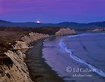 Moonrise, Drake's Beach, Point Reyes National Seashore, Marin County California