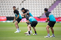 Colin de Granhomme, New Zealand takes the catch in practice during a training session ahead of the ICC World Test Championship Final at the Hampshire Bowl on 17th June 2021