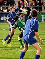 7th September 2018 | Ulster vs Scarlets<br /> <br /> Mini Rugby action at halftime during the PRO14 clash between Ulster and Edinburgh at Kingspan Stadium, Ravenhill Park, Belfast, Northern Ireland. Photo by John Dickson / DICKSONDIGITAL