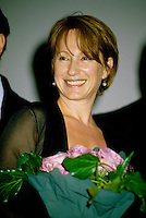 Montreal (Qc) CANADA -1998 File Photo -<br /> Nathalie Baye on the opening of the World Film Festival.<br /> <br /> Nathalie Baye (born July 6, 1948) is a four-time Cesar award-winning French actress. Also she has been nominated a further five times.<br /> <br /> Baye was born in Mainneville, Eure, Normandy. At the age of fourteen she started her artistic career by joining a school of dance in Monaco. Three years later she went to the United States to sample a new world and new culture. On returning to France, she continued with dance but in parallel registered for the Simon Course for the Academy where she graduated in 1972 with a second prise in comedy, dramatic comedy and foreign theatre.<br /> <br /> [edit] Career<br /> <br /> Her first cinema appearance was in Two People by Robert Wise. Then she rose to fame as the 'script girl' in La Nuit am??ricaine (Day for Night) by Fran??ois Truffaut. Throughout the 1970s she played the roles of good girlfriend and nice provincial in both film and television.<br /> <br /> In 1981 she won her first C??sar, for best supporting artist in Sauve qui peut (la vie) by Jean-Luc Godard. There then followed an impressive sequence of success and rise to stardom with Le Retour de Martin Guerre and La Balance.<br /> <br /> She became one of the most popular and renowned French actresses, gaining two more C??sars (Best Supporting Female for A Strange Affair, and Best Actress in 1982 for La Balance. Her 4 year relationship with Johnny Hallyday made them a leading celebrity couple and their daughter Laura is now actress Laura Smet.<br /> <br /> After changing her image by playing the part of a streetwalker in La Balance, she further widened her scope with more obscure characters in J'ai ??pous?? une ombre and En toute innocence. In 1986 she returned to the theatre with an interpretation of Adriana Monti.<br /> <br /> 1999 started a glittering year as she was voted Best Supporting Actress at Venice Film Festival for Une liaison pornographi
