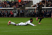 Wednesday, 01 January 2014<br /> Pictured: Jonathan de Guzman of Swansea.<br /> Re: Barclay's Premier League, Swansea City FC v Manchester City at the Liberty Stadium, south Wales.