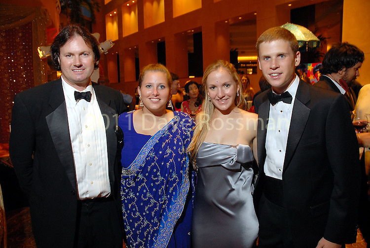Robin King, Caroline Negley, Kelly Krohn and Taylor Eichenwald at the UNICEF Mystique of India gala at the InterContinental Hotel Saturday Sept. 27,2008.(Dave Rossman/For the Chronicle)