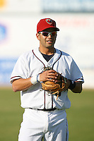 April 19 2009: Marcos Cabral of the Lancaster JetHawks before game against the High Desert Mavericks at Clear Channel Stadium in Lancaster,CA.  Photo by Larry Goren/Four Seam Images