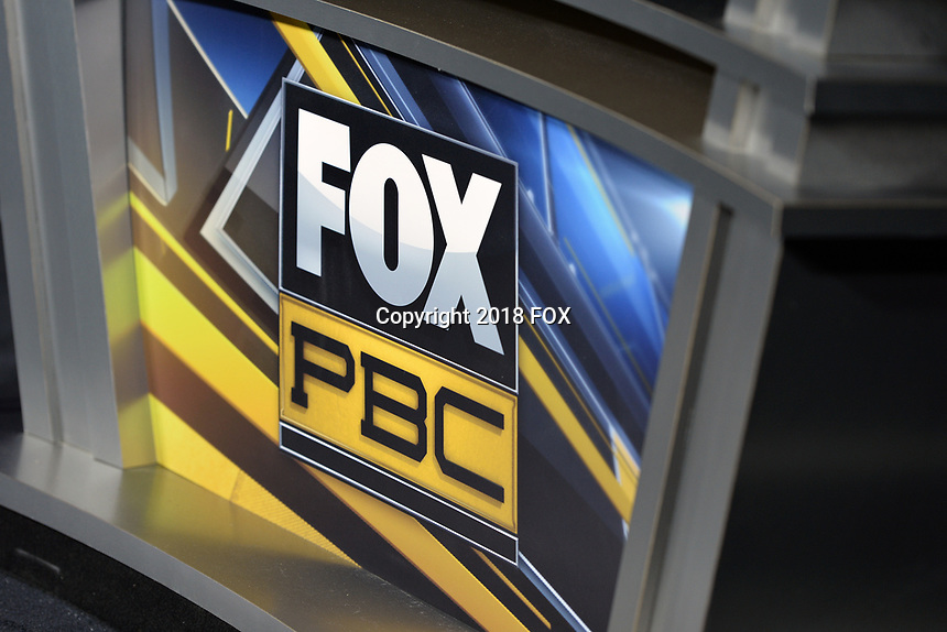 """BROOKLYN, NY - DECEMBER 22:  Fox PBC logo at the Fox Sports and Premier Boxing Champions  December 22 """"PBC on Fox"""" Fight Night at the Barclays Center on December 22, 2018 in Brooklyn, New York. (Photo by Anthony Behar/Fox Sports/PictureGroup)"""