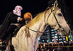 October 25, 2015 : Scenes from the Halloween Dance Contest, Zombie Halloween Parade and World's Largest Thriller Recreation as Breeders' Cup Week gets into full swing in Lexington, Kentucky. In addition to run of the mill zombies, there were many horse and Breeders' Cup themed participants as Lexington hosts the 2015 Cup. Scott Serio/ESW/CSM