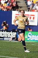 Cat Whitehill surveys the field. USA defeated Brazil 2-0 at Giants Stadium on Sunday, June 23, 2007.