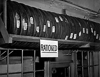 Rationed tires. (Office of Price Administration)<br /> Exact Date Shot Unknown<br /> NARA FILE #:  188-FS-7-100<br /> WAR & CONFLICT #:  790