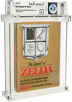 BNPS.co.uk (01202) 558833<br /> Pic: Heritage Auctions/BNPS<br /> <br /> A sealed cartridge for the eighties' Nintendo video game The Legend of Zelda has sold for a world record £625,000.<br /> <br /> The untouched and unplayed cartridge is just one of two sealed copies of a rare type of the game that was manufactured for just a few months in 1987.<br /> <br /> The price paid for it smashed the previous record of £475,000 set in April this year for a Super Mario Bros. game.
