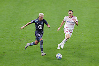 ST PAUL, MN - SEPTEMBER 27: Emanuel Reynoso #10 of Minnesota United FC chases the ball during a game between Real Salt Lake and Minnesota United FC at Allianz Field on September 27, 2020 in St Paul, Minnesota.