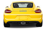 Straight rear view of a 2014 Porsche Caymen Coupe