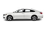 Car driver side profile view of a 2018 Honda Accord EX 4 Door Sedan
