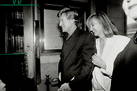 1992 FILE PHOTO - ARCHIVES -<br /> <br /> Robert Redford and his friend 'Cathy' make their way to the screening at the Eigin theatre on Yonge St. of The River Runs Through It, which he produced and directed.<br /> <br /> 1992<br /> <br /> PHOTO :  Erin Comb - Toronto Star Archives - AQP