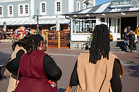 South Africa,Cape town, Victoria & Alfred Waterfront,special hair dressing of black girl