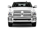 Car photography straight front view of a 2017 Ram 2500 Laramie Mega Cab 4 Door Truck Front View