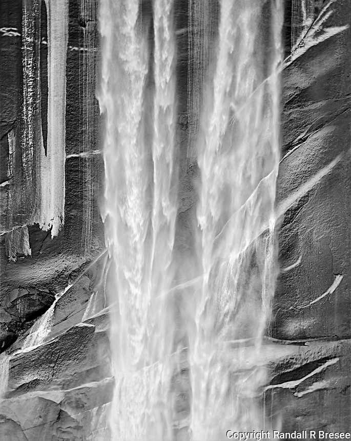 """""""Vernal Falls""""<br /> Yosemite National Park, California<br /> <br /> This photograph shows a closeup of a section of the popular Vernal Waterfall in Yosemite National Park."""
