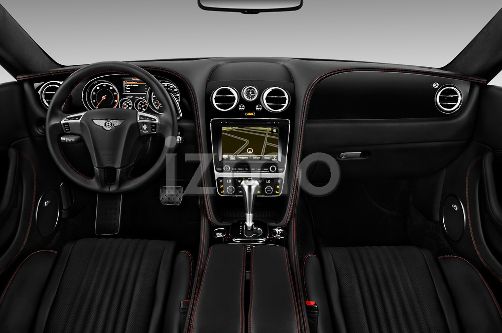 Stock photo of straight dashboard view of 2017 Bentley Continental-GT V8 3 Door Coupe Dashboard