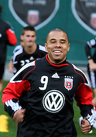 Charlie Davies (9) of D.C. United during an MLS match against the New York Red Bulls at RFK Stadium, in Washington D.C. on April 21 2011. Red Bulls won 4-0.