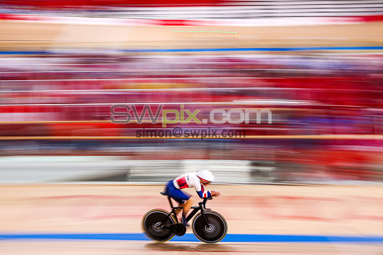 Picture by Alex Whitehead/SWpix.com - Tokyo 2020 Paralympics - 25/08/2021 - Track Cycling - Izu Velodrome, Izu, Japan - Sarah Storey of Great Britain breaks the World Record during the Women's C5 3000m Individual Pursuit qualifying.