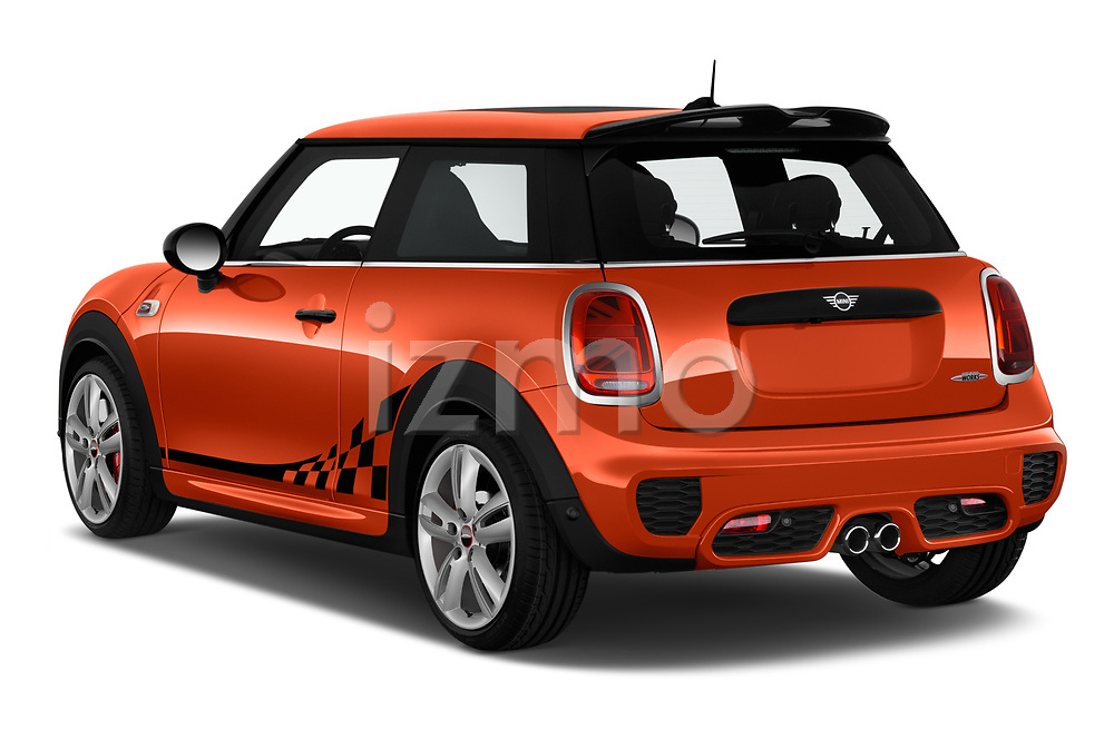 Car pictures of rear three quarter view of 2019 MINI Hardtop-2-Door John-Cooper-Works-Iconic 5 Door Hatchback Angular Rear