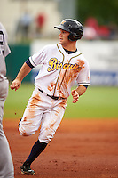 Montgomery Biscuits outfielder Johnny Field (1) during a game against the Jackson Generals on April 29, 2015 at Riverwalk Stadium in Montgomery, Alabama.  Jackson defeated Montgomery 4-3.  (Mike Janes/Four Seam Images)