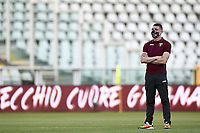 Andrea Belotti of Torino FC stands, wearing a mask, prior to the Serie A football match between Torino FC and Udinese at Olimpico stadium in Torino ( Italy ), June 23th, 2020. Play resumes behind closed doors following the outbreak of the coronavirus disease. <br /> Photo Image Sport / Insidefoto