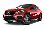 Stock pictures of low aggressive front three quarter view of 2017 Mercedes Benz GLE-Class-Coupe GLE43-AMG 5 Door SUV Low Aggressive