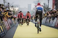 Mathieu Van der Poel (NED/Corendon Circus) pre race <br /> <br /> 103rd Ronde van Vlaanderen 2019<br /> One day race from Antwerp to Oudenaarde (BEL/270km)<br /> <br /> ©kramon