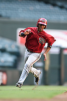 Arizona Diamondbacks catcher Michael Perez (7) during an Instructional League game against the Oakland Athletics on October 10, 2014 at Chase Field in Phoenix, Arizona.  (Mike Janes/Four Seam Images)