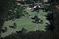 aerial photograph of the San Francisco National Cemetery, Presidio, San Francisco, California