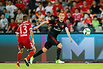 AC Milan Defender Luca Antonelli (R) in action during the 2017 International Champions Cup China match between FC Bayern and AC Milan at Universiade Sports Centre Stadium on July 22, 2017 in Shenzhen, China. Photo by Marcio Rodrigo Machado/Power Sport Images