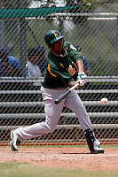 Robin Rosario  -  Oakland Athletics - 2009 extended spring training.Photo by:  Bill Mitchell/Four Seam Images